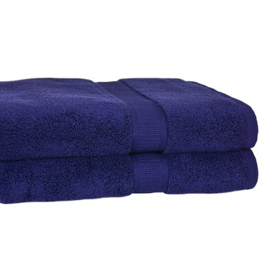 Bloomberg Terry Cloth Bath Towel Color: Midnight Blue