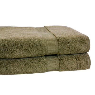 Bloomberg Terry Cloth Bath Towel Color: Moss Green
