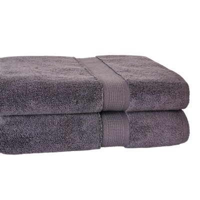 Bloomberg Terry Cloth Bath Towel Color: Charcoal