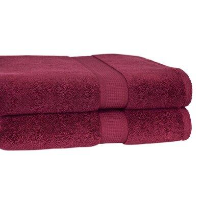 Bloomberg Terry Cloth Bath Towel Color: Burgundy