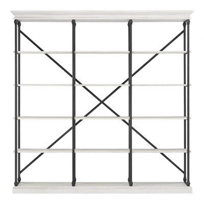 """Gail Etagere Bookcase Color: Antique White, Size: 84"""" H x 58"""" W x 15"""" D"""