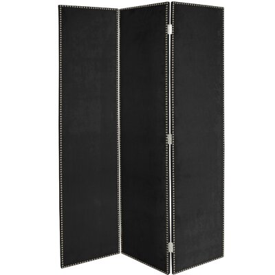 Rohon 3 Panel Room Divider Color: Black