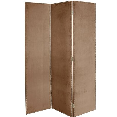 Rohon 3 Panel Room Divider Color: Cocoa
