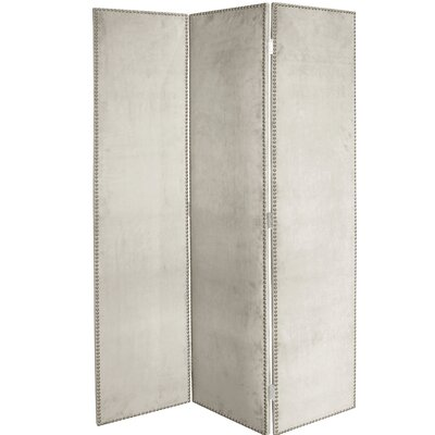 Rohon 3 Panel Room Divider Color: Light Gray