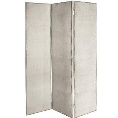 Rohon 3 Panel Room Divider Color: Light Gray