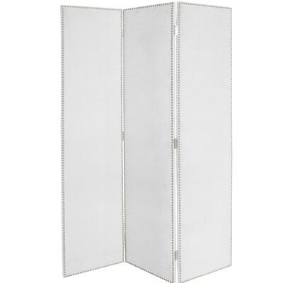Rohon 3 Panel Room Divider Color: White