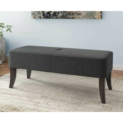 Dumbarton Upholstered Bench Upholstery: Dark Gray