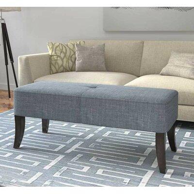 Dumbarton Upholstered Bench Upholstery: Blue Gray