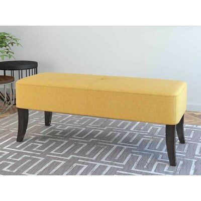 Dumbarton Upholstered Bench Upholstery: Blonde Yellow