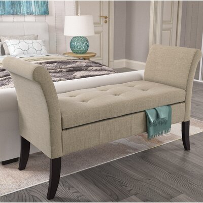 Dumbarton Upholstered Storage Bench Upholstery: Beige