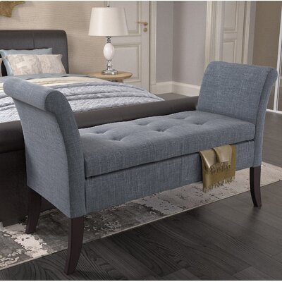 Dumbarton Upholstered Storage Bench Upholstery: Blue Gray