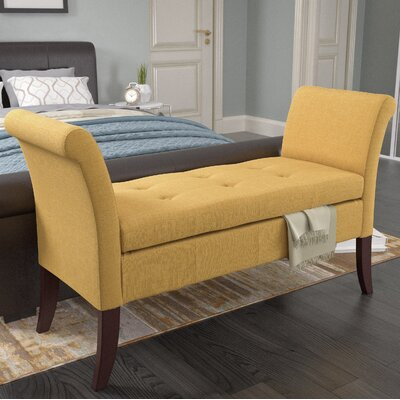 Dumbarton Upholstered Storage Bench Upholstery: Yellow