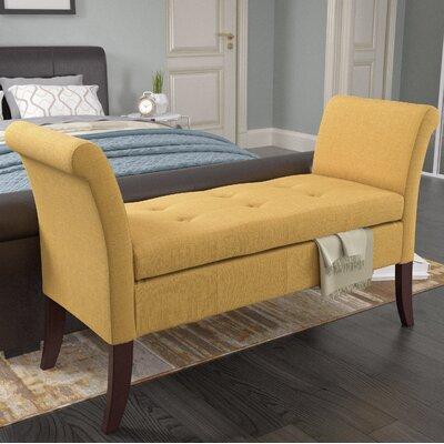 Dumbarton Upholstered Storage Bench Upholstery: Yellow