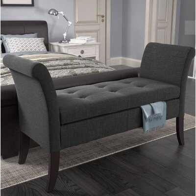 Dumbarton Upholstered Storage Bench Upholstery: Dark Gray