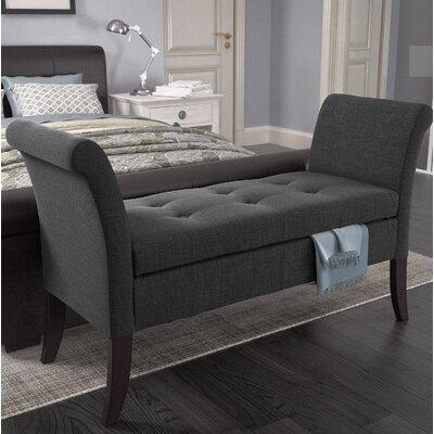 Dumbarton Upholstered Storage Bench Upholstery: Dark Gray