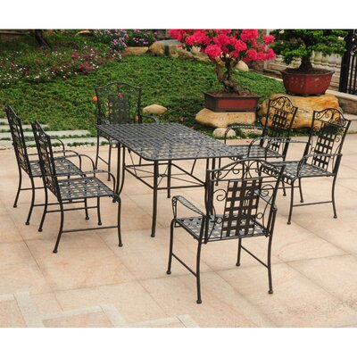 Doric 7 Piece Dining Set Color: Antique Black