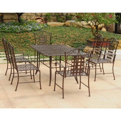 Doric 7 Piece Dining Set Color: Matte Brown