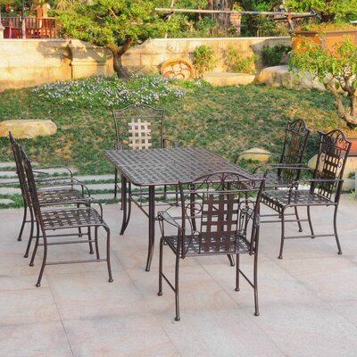 Doric 7 Piece Dining Set Color: Bronze