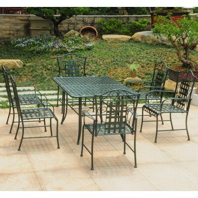 Doric 7 Piece Dining Set Color: Vertigris