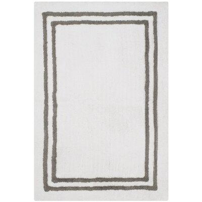 Lockheart Stripes Plush Bath Rug Color: Dark Gray