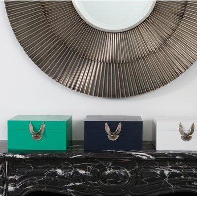 Brass Eagle Box Color: White