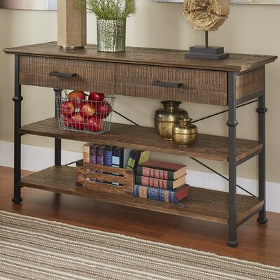 Roxborough Console Table Color: Brown