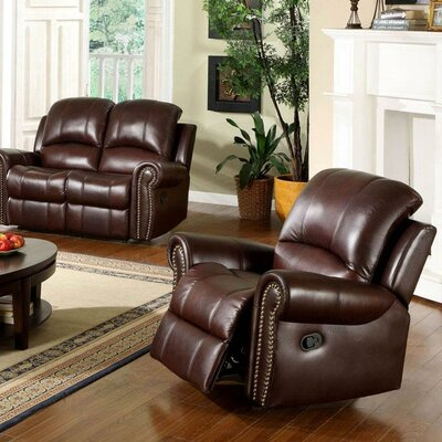 Barnsdale Leather Manual Recliner