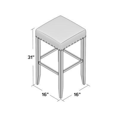 """Stafford 30"""" Bar Stool Upholstery: Gray, Frame Color: Espresso"""