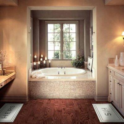 "Lewis Hers Bath Rug Size: 0.25"" H x 20"" W x 34"" D, Color: Walnut"