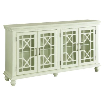 Grondin 4 Door Accent Cabinet Color: Antique White