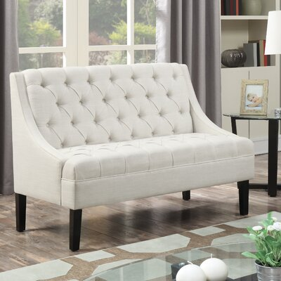 Argenziano Upholstered Bench Upholstery: White