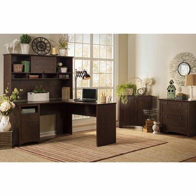 Fralick 4 Piece L-Shape Desk Office Suite Color: Madison Cherry