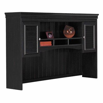 "Oakridge 38.25"" H x 60.38"" W Desk Hutch Finish: Black"