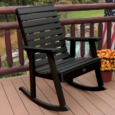Berry Rocking Chair Color: Black