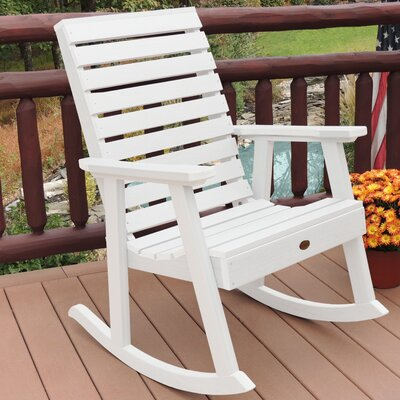 Berry Rocking Chair Color: White