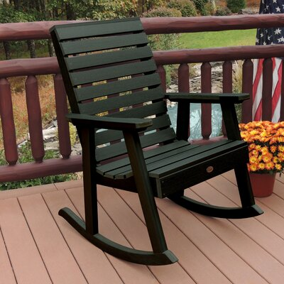 Berry Rocking Chair Color: Charleston Green