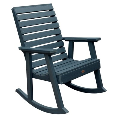 Berry Rocking Chair Color: Nantucket Blue