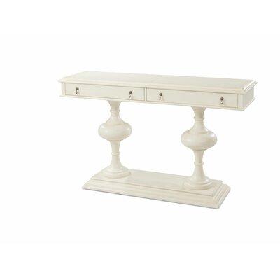 """Kerri Console Table Size: 38"""" H x 64"""" W x 18"""" D, Color: Antique White"""