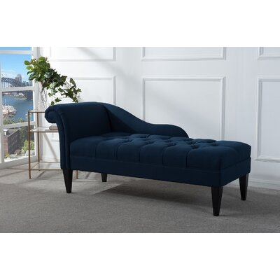 Jeppesen Chaise Lounge Upholstery: Midnight blue