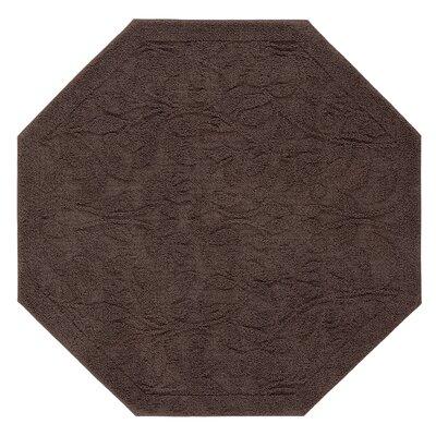 """Berger Sage Bath Mat Size: 48"""" H x 48"""" W x 0.47"""" D, Color: Chocolate"""