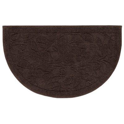 """Berger Sage Bath Mat Size: 24"""" H x 39.6"""" W x 0.47"""" D, Color: Chocolate"""
