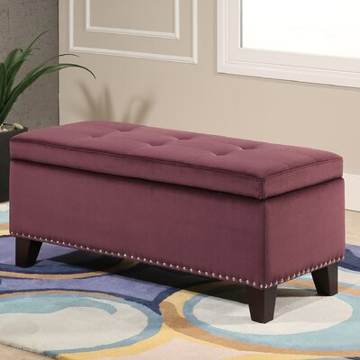 Loretta Upholstered Storage Bench Upholstery: Purple