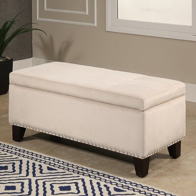 Loretta Upholstered Storage Bench Upholstery: Ivory