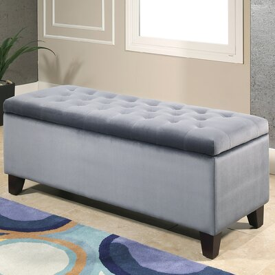 Kahle Upholstered Storage Bench Upholstery: Smoke Blue