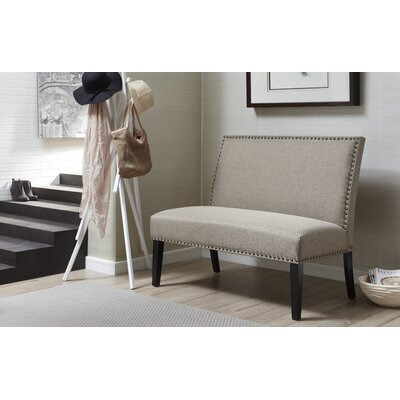 Tiffany Upholstered Bench Upholstery Color: Caf