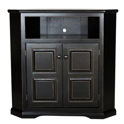 "Verna Corner 41"" TV Stand Color: Bright White, Door Type: Raised Panel"