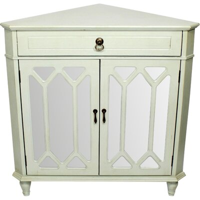 Hannah Wooden Corner Accent Cabinet Color: Light Green