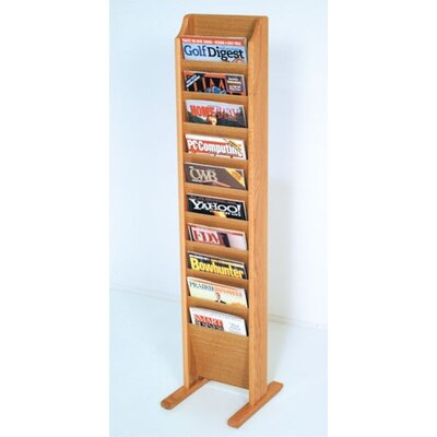 Delia 10 Pocket Free Standing Magazine Rack Wood Color: Light Oak