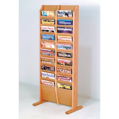 Bengt 20 Pocket Free Standing Magazine Rack Wood Color: Light Oak