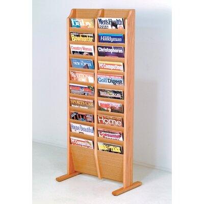 Bengt 20 Pocket Free Standing Magazine Rack Wood Color: Light Oak